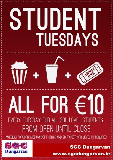 Student Tuesdays Dungarvan